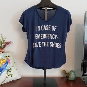 Apt 9 TShirt save the shoes Size L